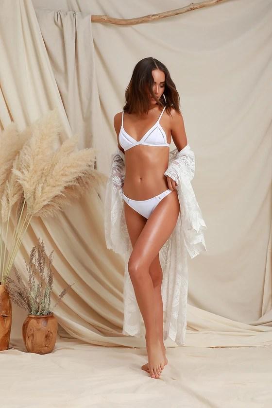My Bralette White Bikini Top
