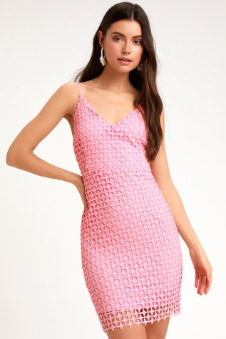 c79460397d71 KINDHEARTED PINK LACE SLEEVELESS MINI DRESS FROM LULUS $54