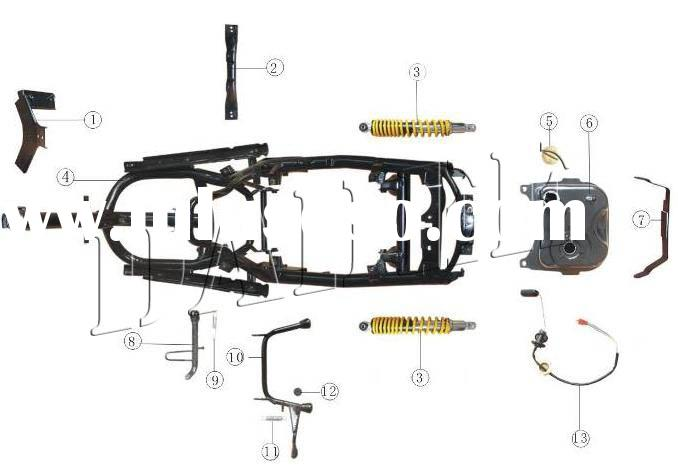 tank scooter parts, tank scooter parts Manufacturers in