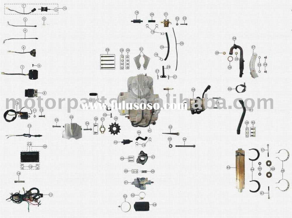 medium resolution of engine parts 250cc atv parts