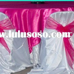 Universal Wedding Chair Covers Personalized Lawn Chairs Satin Manufacturing Bag Self Tie Cover