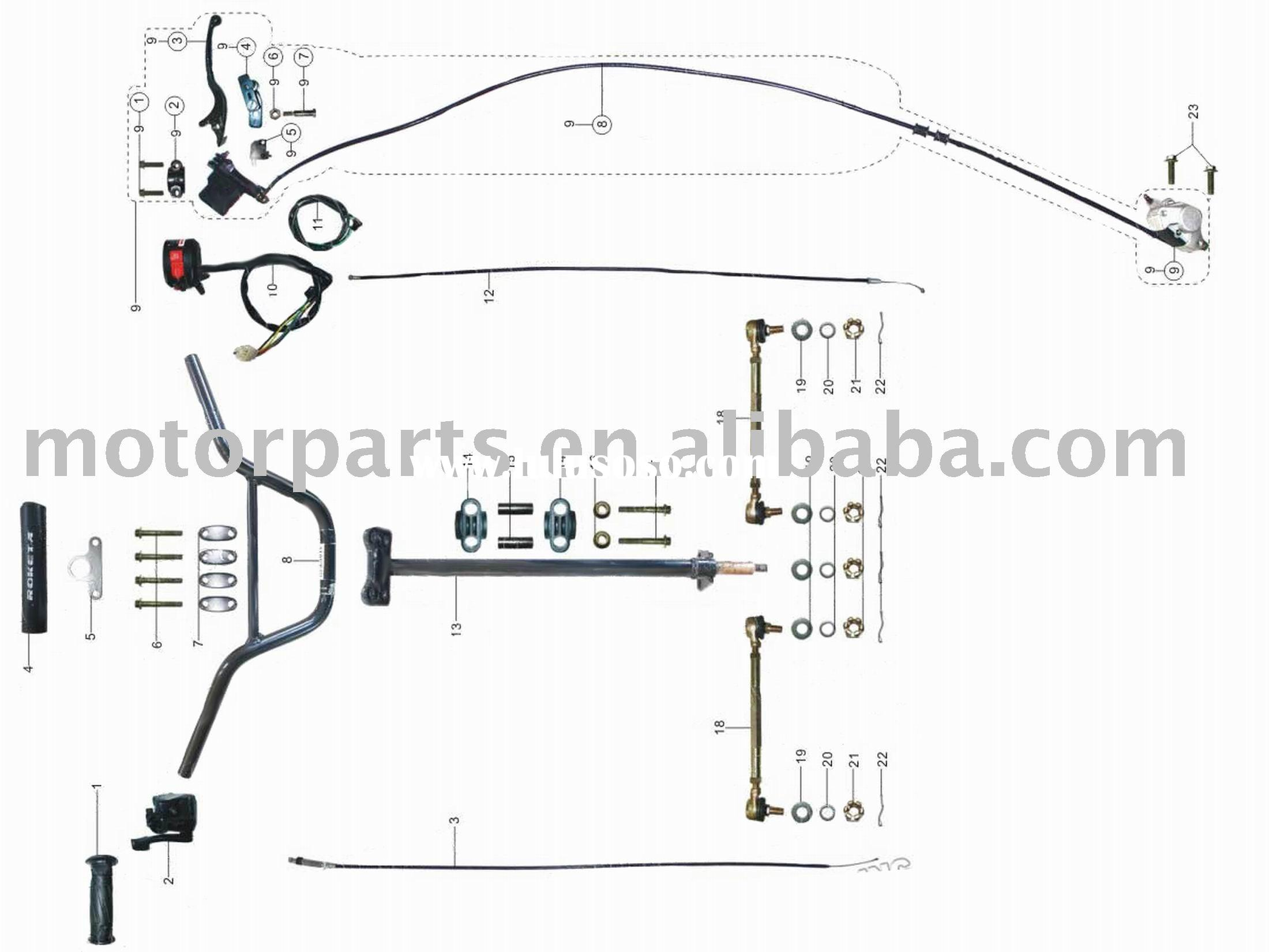 50cc atv wiring diagram motor