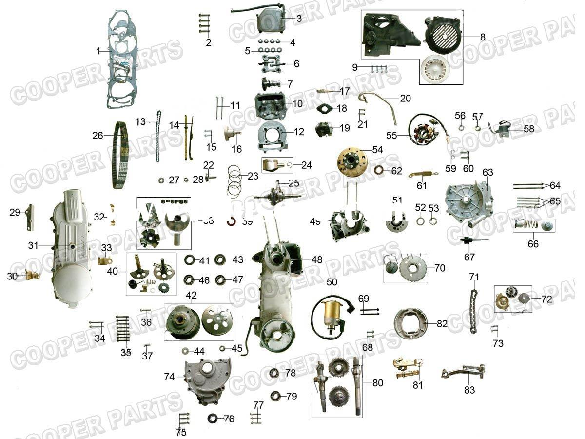 gy6 50cc wiring diagram electrical two way switch 150cc engine manufacturers in