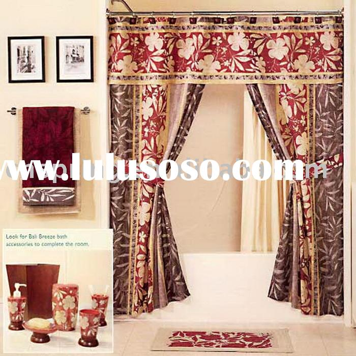 Double Swag Shower Curtain Attached Valance Interior Home Design