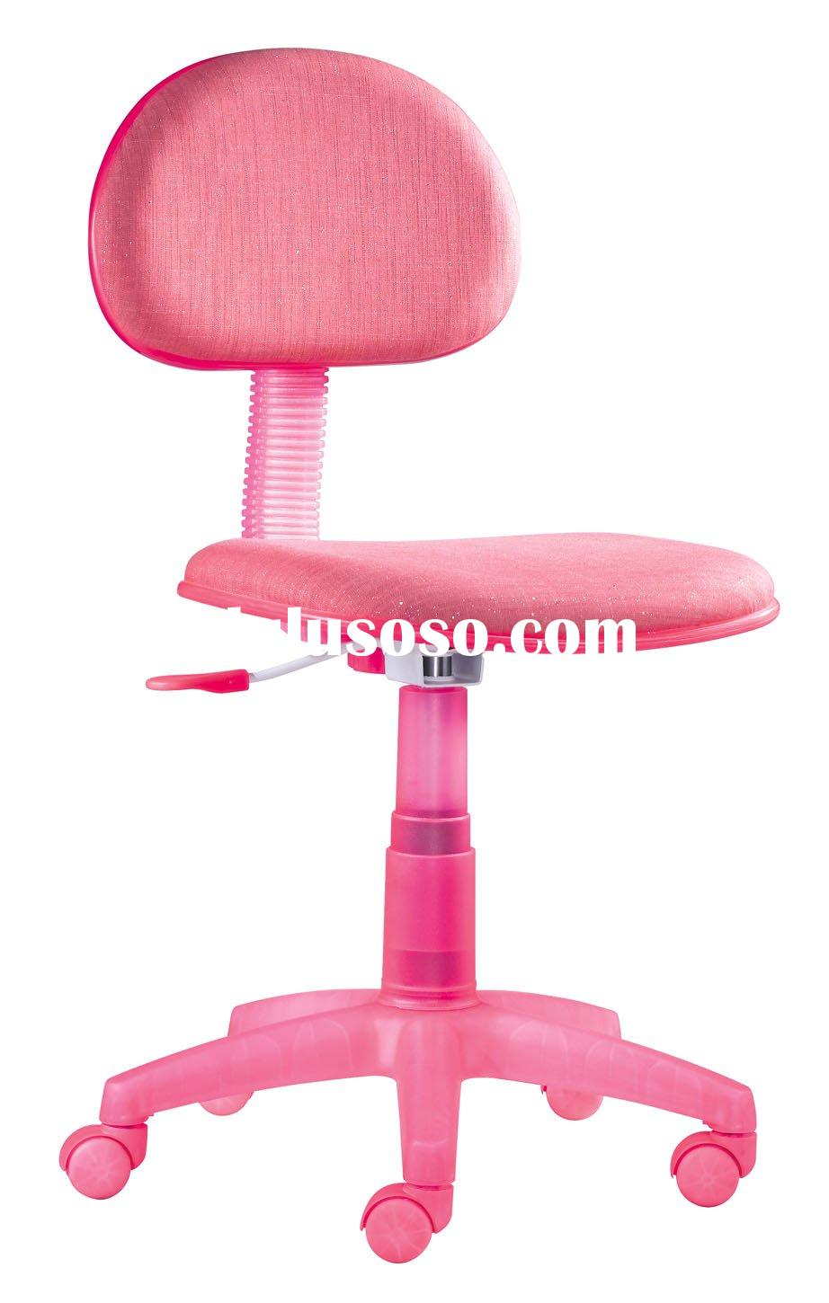 girls pink desk chair wicker back repair kids chairs home design swivel for