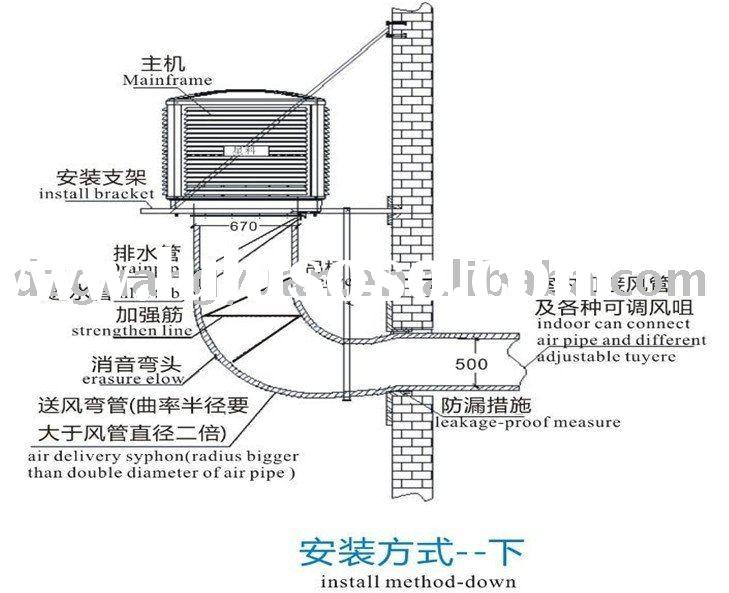 iwata evaporative air conditioner diagram, iwata