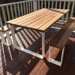 Metal Outdoor Table And Chairs Australia Old Office Timber Tables Lumber Furniture