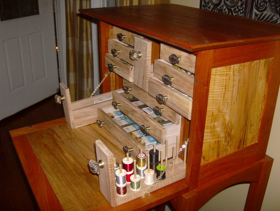 Fly Tying Desk Finished  by leighty6  LumberJockscom