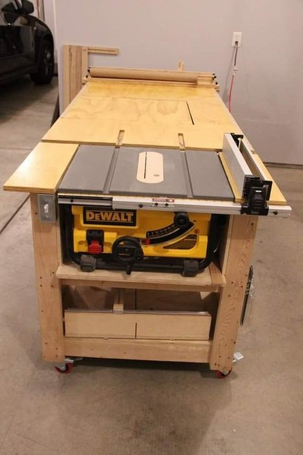 Woodworking Bench With Table Saw Plans