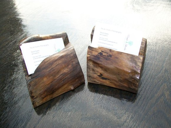 Rustic business card holder - by A Slice of Wood Workshop ...
