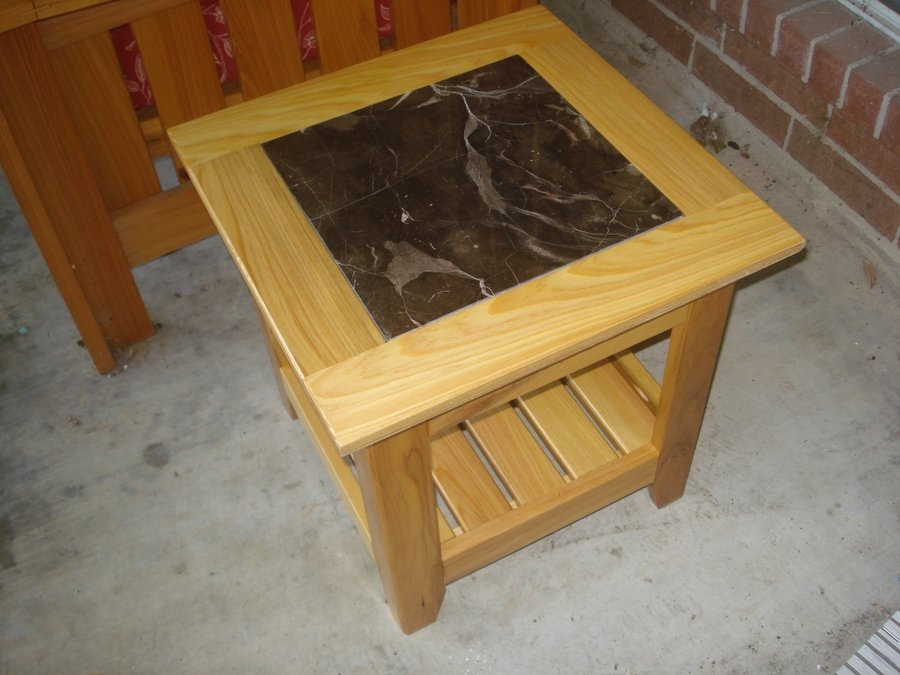 tile top patio end table w sketchup
