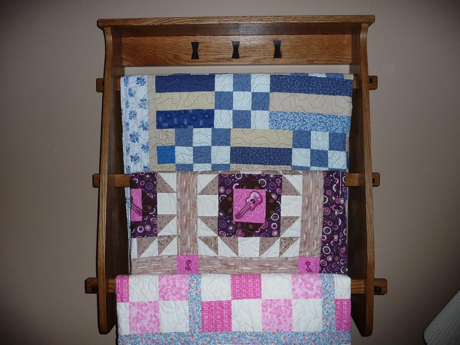 wall mounted quilt rack by theking