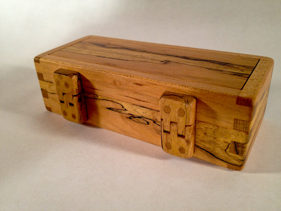 Harmonica Box With Mini Wood Hinges By Mr E