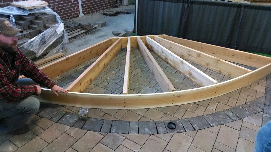 Home Amp Patio Show Curved Pergola By Bgw Lumberjocks