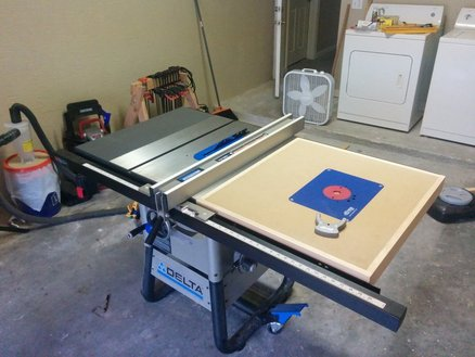 Delta Table Saw Router Extension