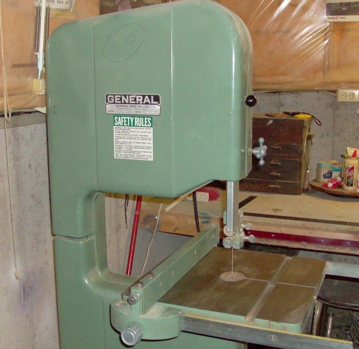 General 490 Bandsaw For Sale