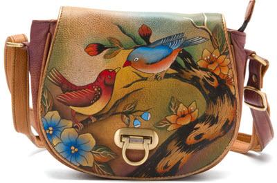 genti hand made Genti Anuschka Handbags Crossbody Saddle Bag Feme