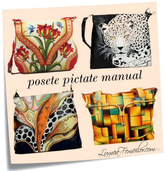 Genti pictate manual de purtat in orice sezon