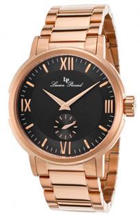 ceasuri barbatesti de firma ieftine Lucien Piccard Bremen Rose-Tone Steel Black Dial - 12744-RG-11