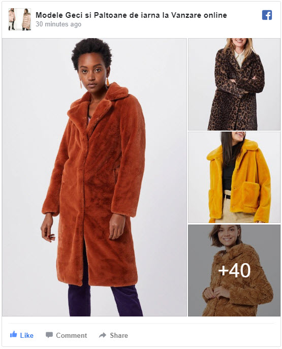 modele geci si paltoane de iarna la vanzare online facebook