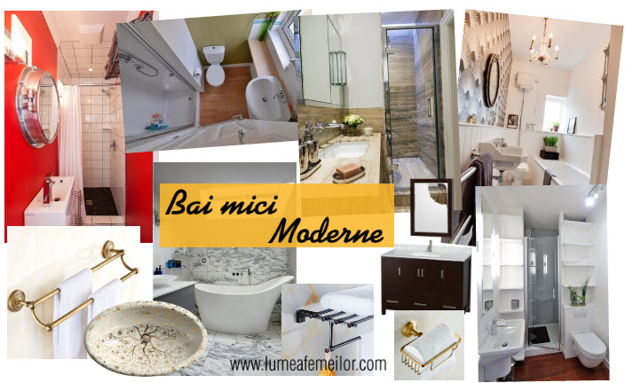 Bai mici moderne - amenajare baie bloc