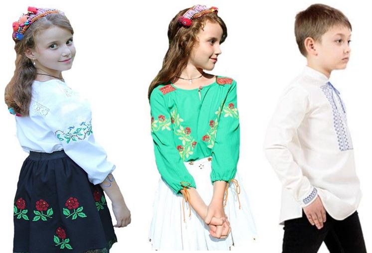 modele de bluze ie traditionala pentru copii
