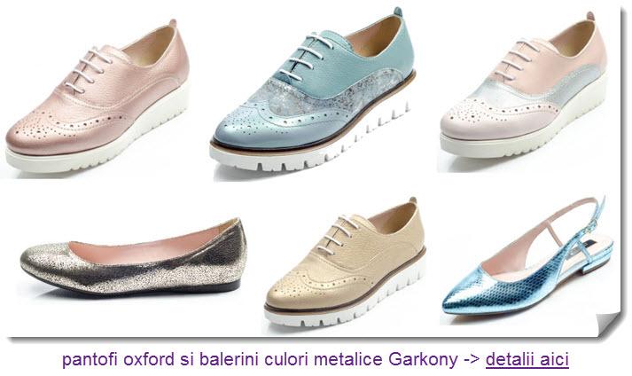 pantofi oxford garkony si balerini culori metalice