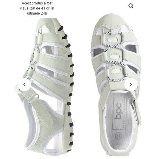pantofi sport albi decupati pentru femei