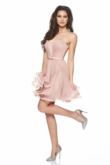 rochii babby doll roz pentru nunta