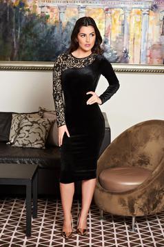 rochii fofy negre din catifea elastica