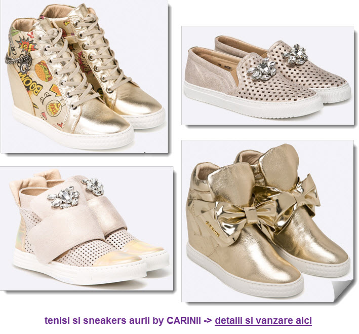 tenisi si sneakers aurii by Carinii