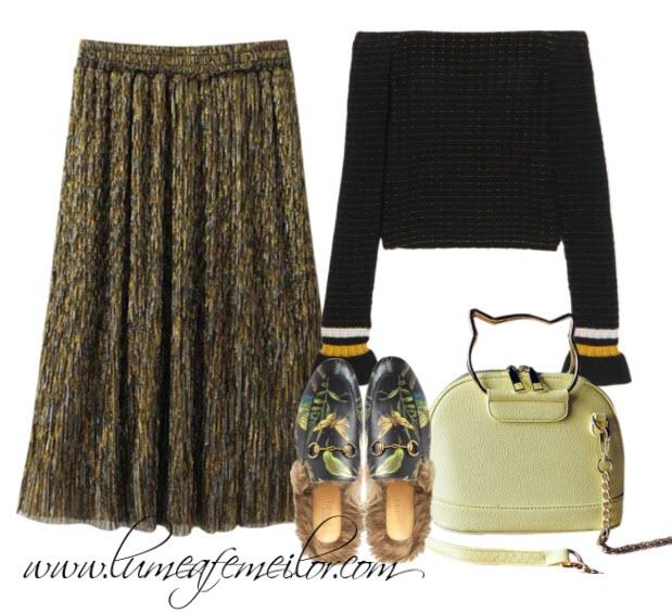 Cum sa porti fusta midi in toamna asta! 22 de idei de styling!