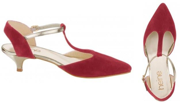 Pantofi rosii cu toculet de la Heine