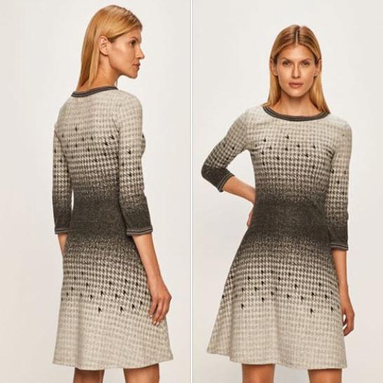 rochie tricotata bej Desigual