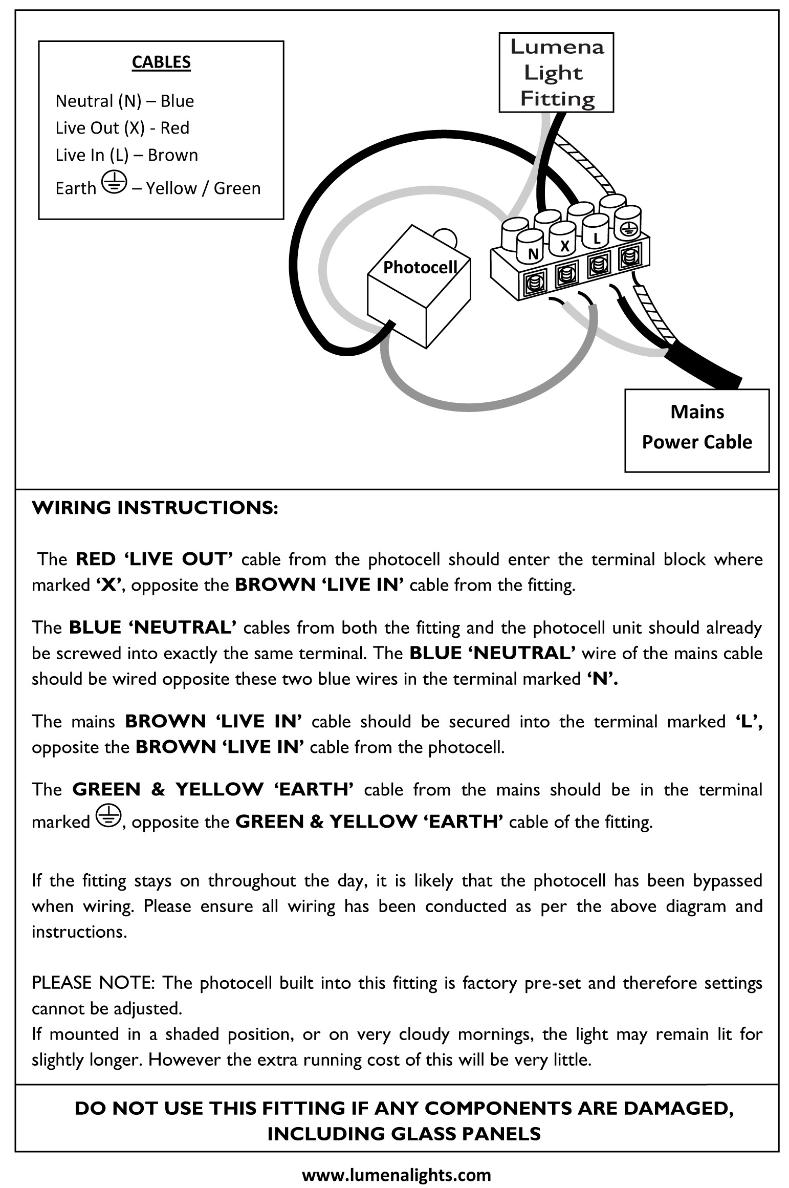 wiring diagram for 240v photocell jeep jk sub instructions33 lumena lights