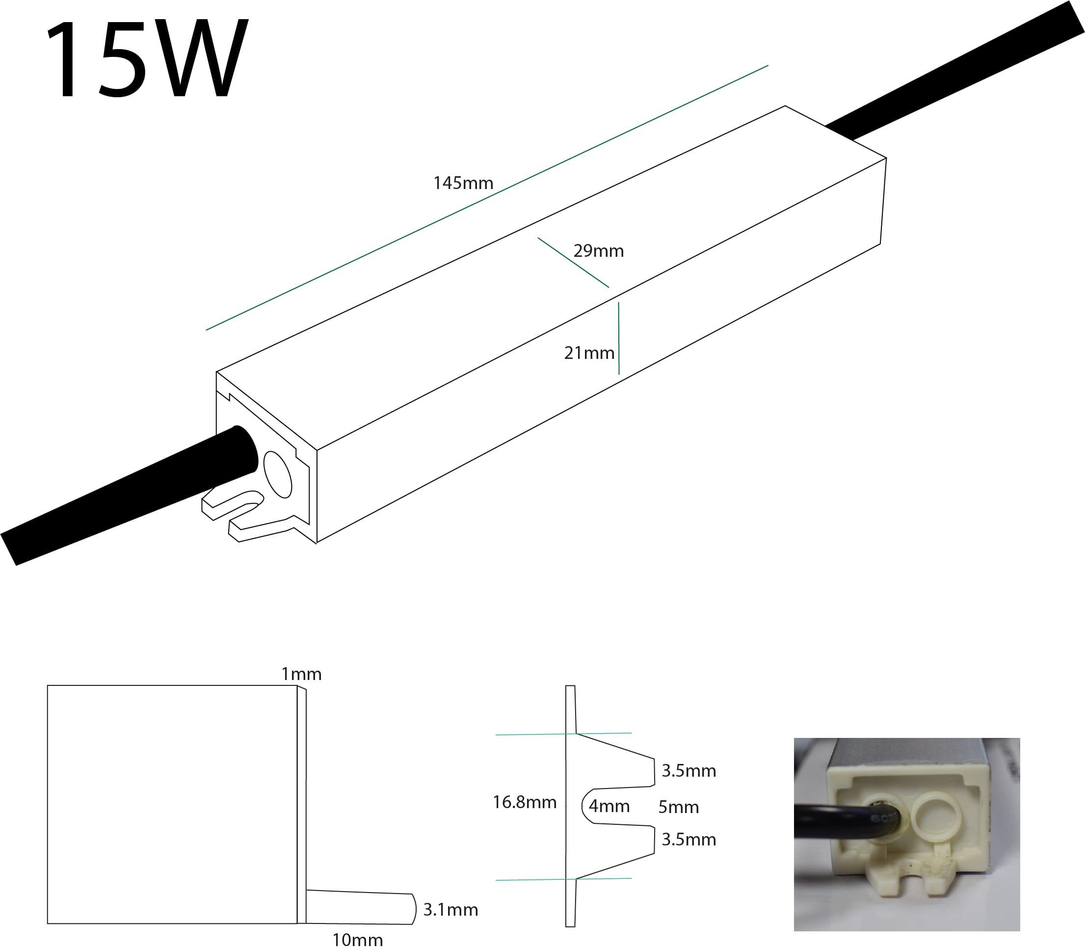 24v Constant Voltage Led Driver 15w 30w