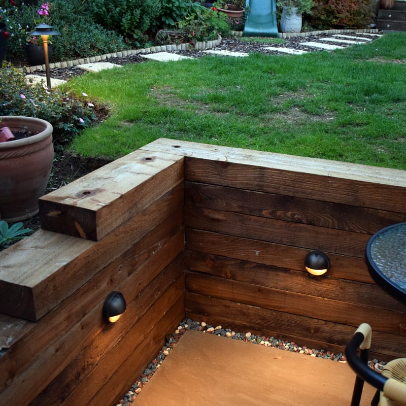 eyelite 240v garden step light solid brass rustic bronze finish