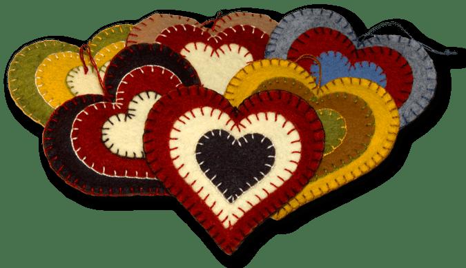 Lumenaris Products Felt Ornaments Heart Ornaments
