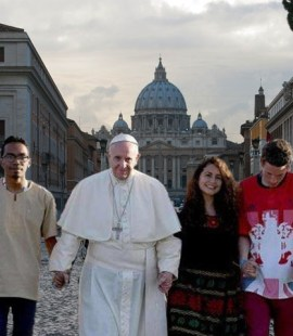 Pope with Youth