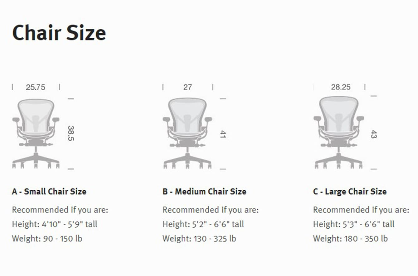 white aeron chair laptop gaming herman miller buying guide tips advice at lumens com collection size