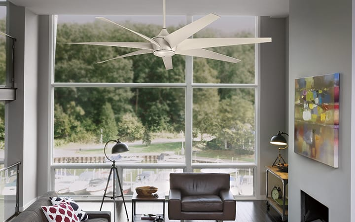 ceiling fan size for living room decorator sizes guide at lumens com 10 really big fans