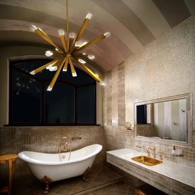 bathroom lighting - ceiling light fixtures & bath bars at lumens