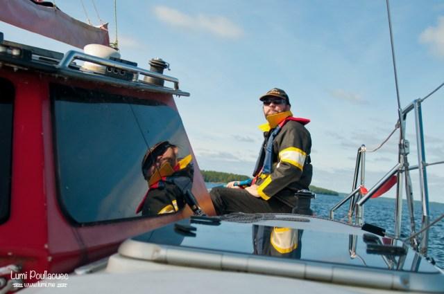 Lac Saimaa - Finlande - navigateur reflet catamaran
