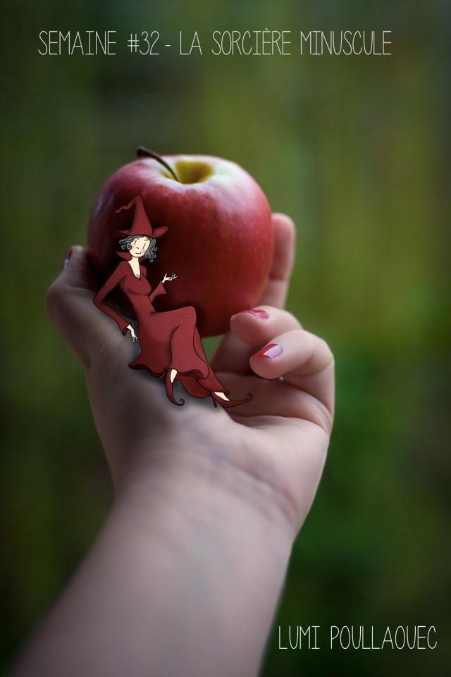 La sorcière et la pomme rouge. © Lumi Poullaouec