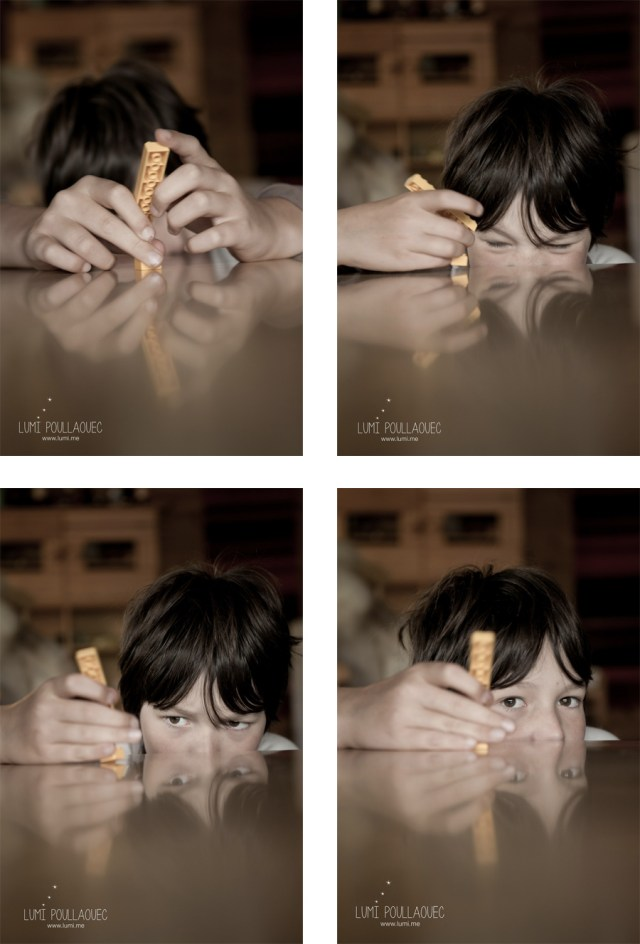 Tomi, Mon neveu autiste - enfant autiste -Photographie d'un garçon autiste avec un logo. © Lumi Poullaouec