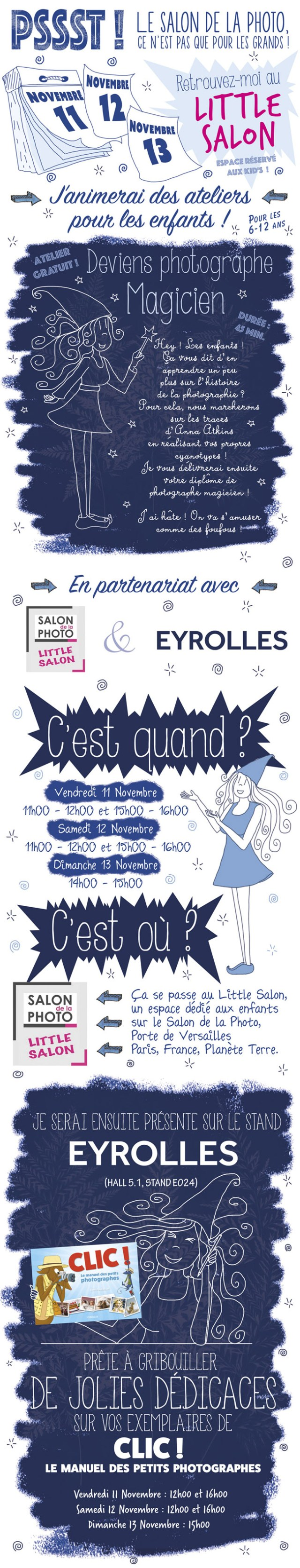Ateliers cyanotype pour enfant au salon de la photo