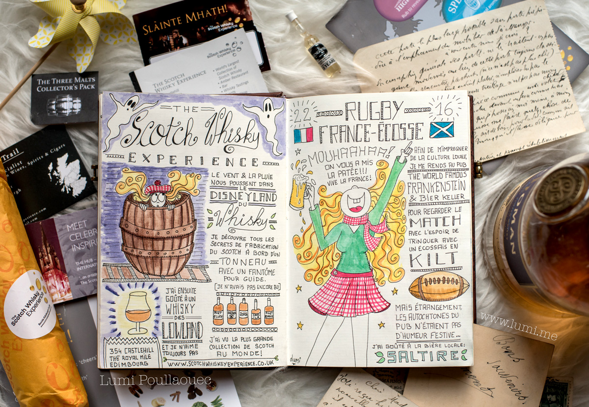 Scotch whisky experience edimbourg rugby france ecosse travler notebook