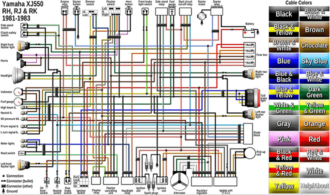 XJ550preview?resize\=660%2C390 virago 920 wiring diagram ignition starter switch diagram, virago 1982 yamaha virago 920 wiring diagram at readyjetset.co