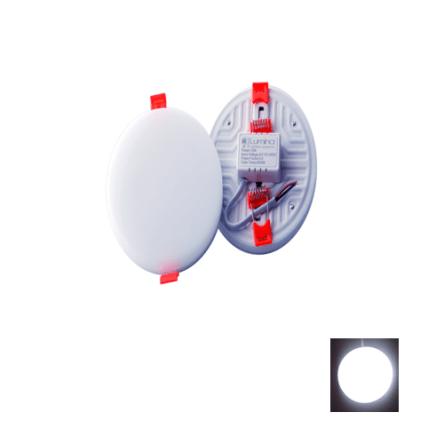 Spots LED Encastrable 3D Réglable 10W Rond sans cadre lumière blanche (6500K)