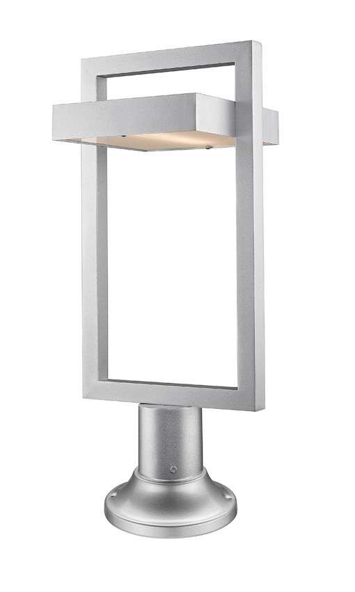 Lampe Piédestal Extérieure Z-Lite Luttrel 566PHBR-553PM-SL-LED